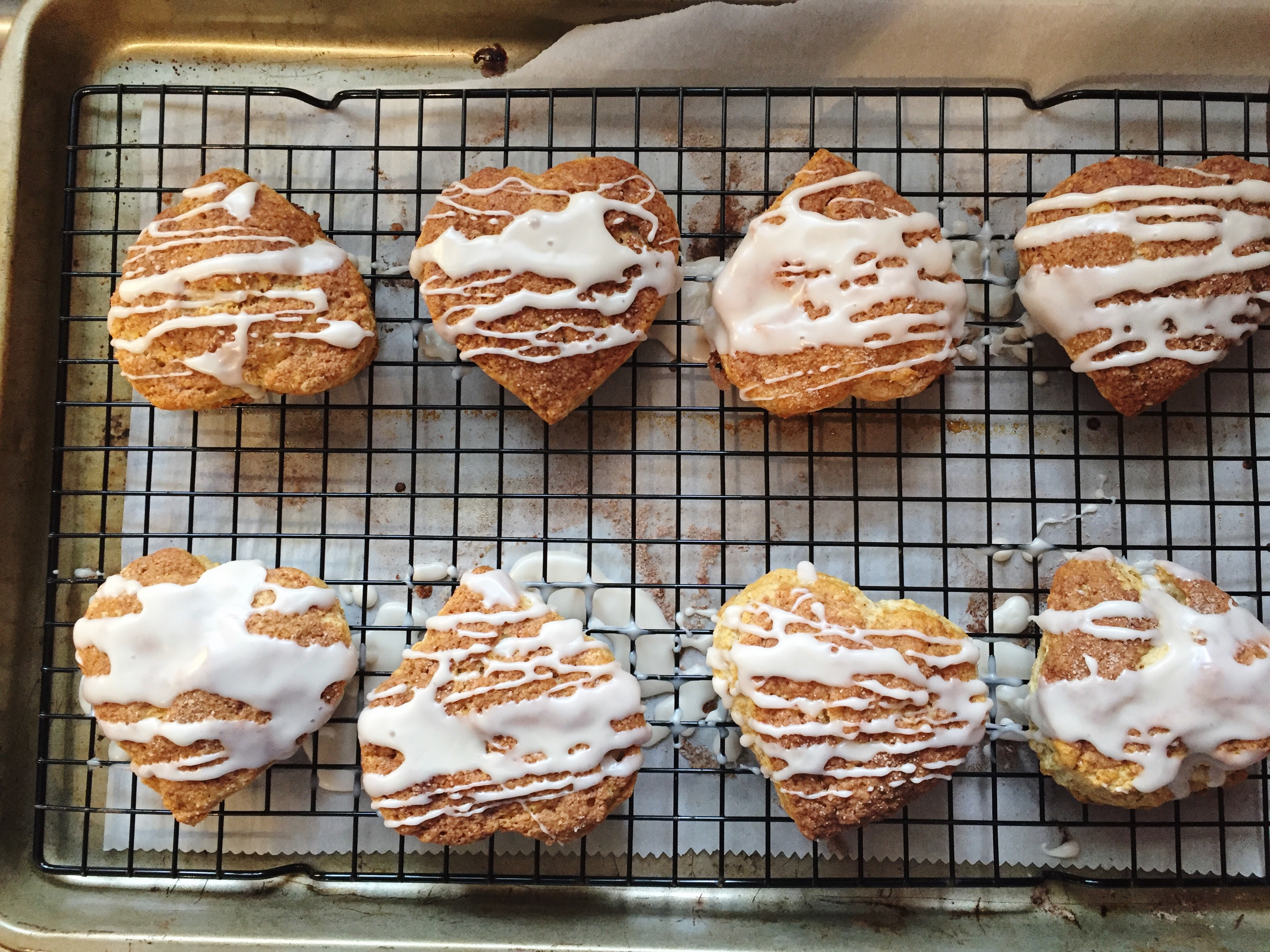 scones baked into hearts