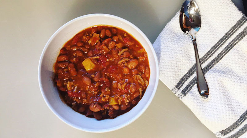 quick chili recipe, lunctime chilie